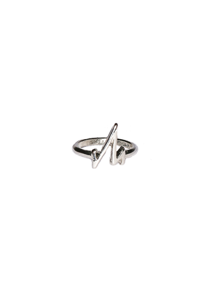 Silver Heartbeat Midi Ring