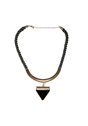Rope Wrap Triangle Plate Necklace