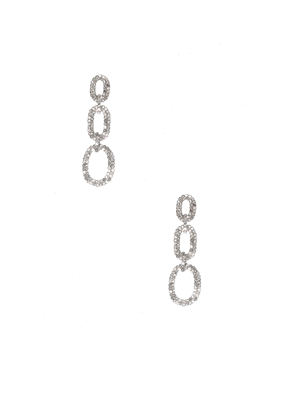 Crystal Chainlink Statement Earrings