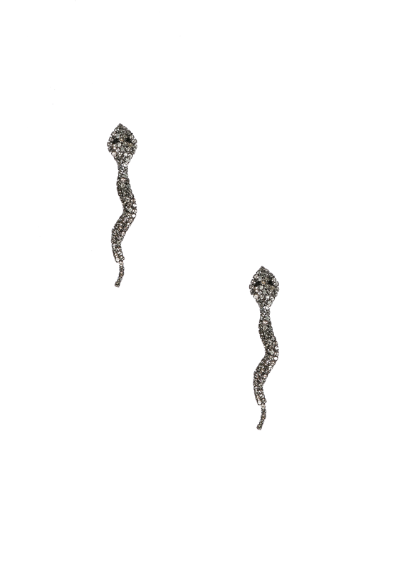 Crystal Snake Earrings