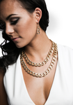 Double Chainlink Necklace Set