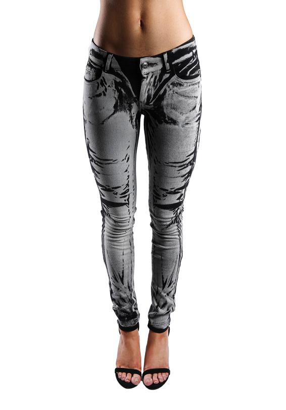 Printed Stretchy Skinny Pants