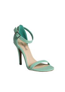 Single Open Toe Sandals in Teal