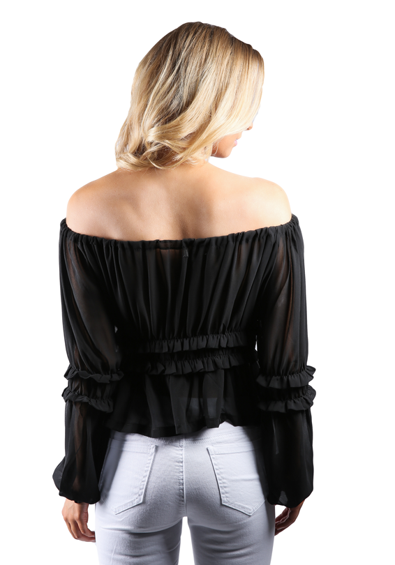Gypsy Off The Shoulder Ruched Top
