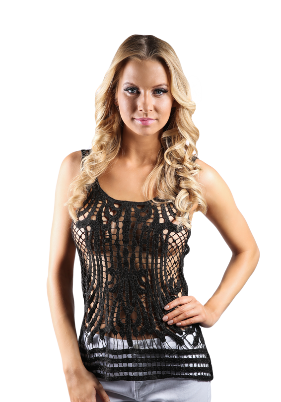 Metallic Crochet Top