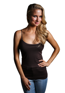 Thin Strapped Brown Cami Top