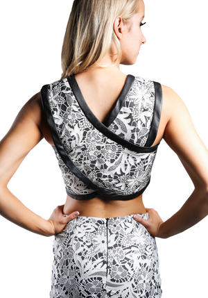 Oriental Laced Crop Top