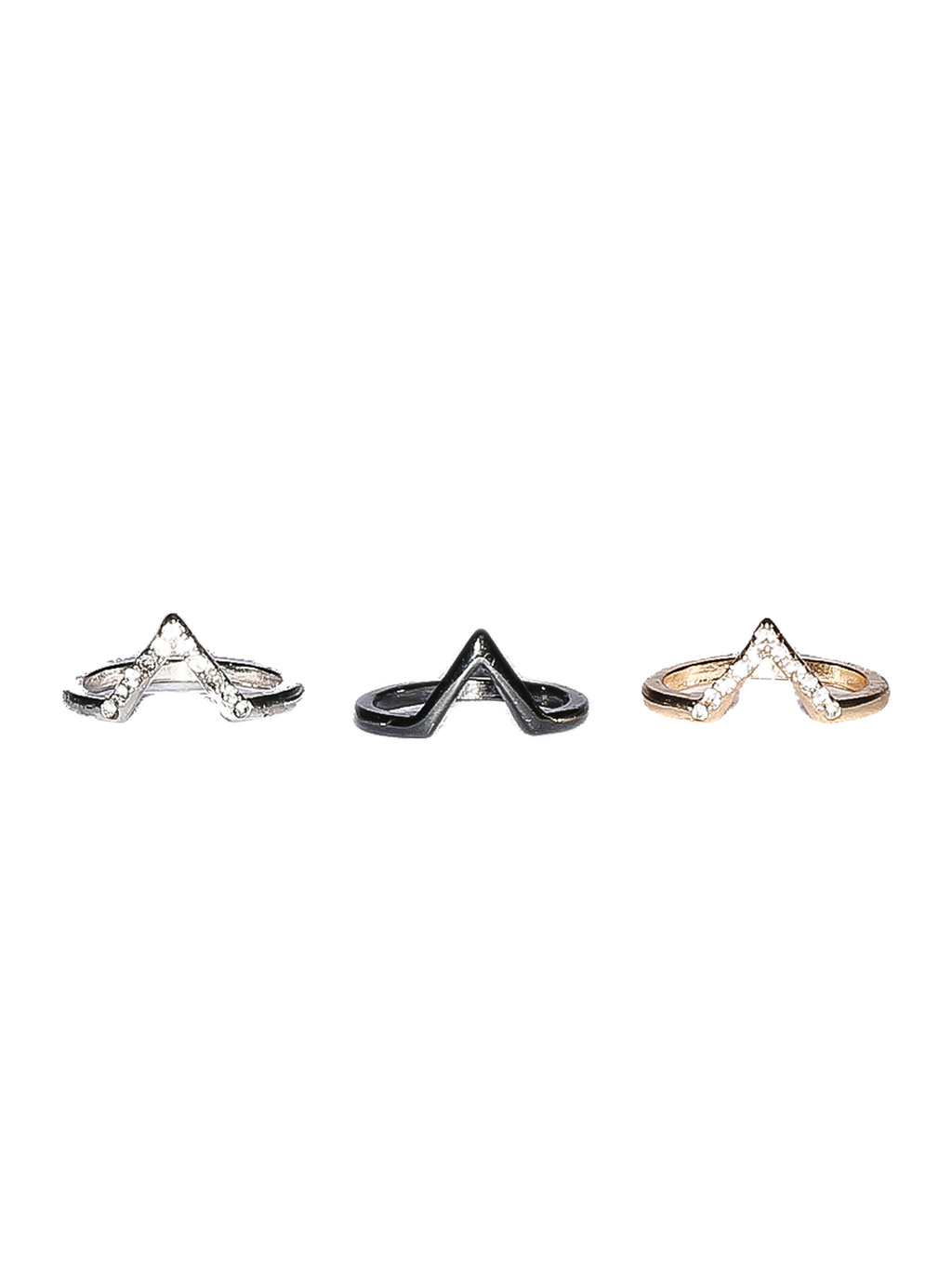 Trio Midi Ring Set