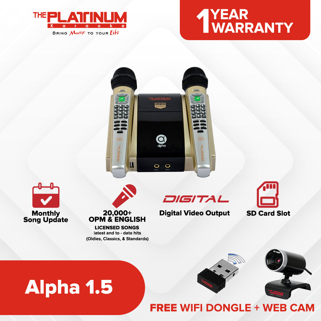 Alpha v1.5 + Wifi Dongle + Webcam