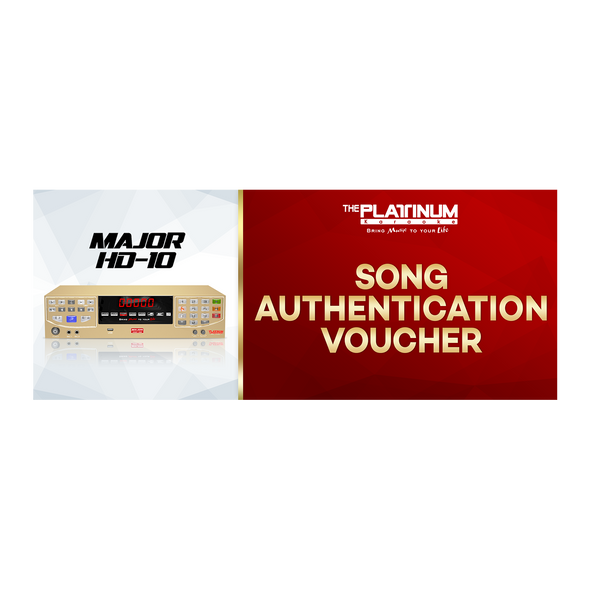 3 Months Song Authentication for Major HD-10