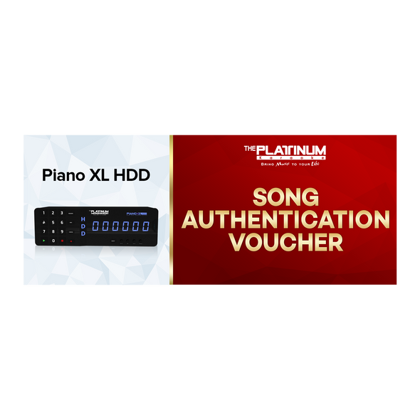 3 Months Song Authentication for Piano XL HDD