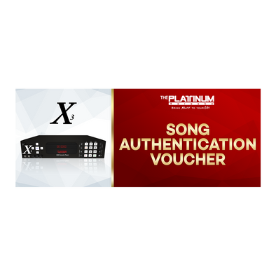 3 Months Song Authentication for X-3