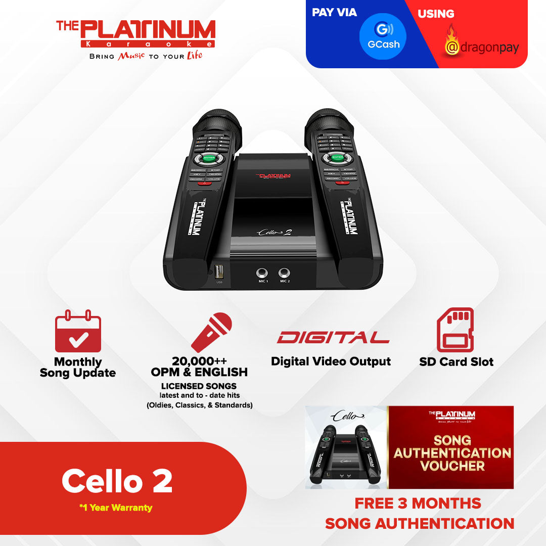 Cello 2 with Free 3 Months Song Authentication