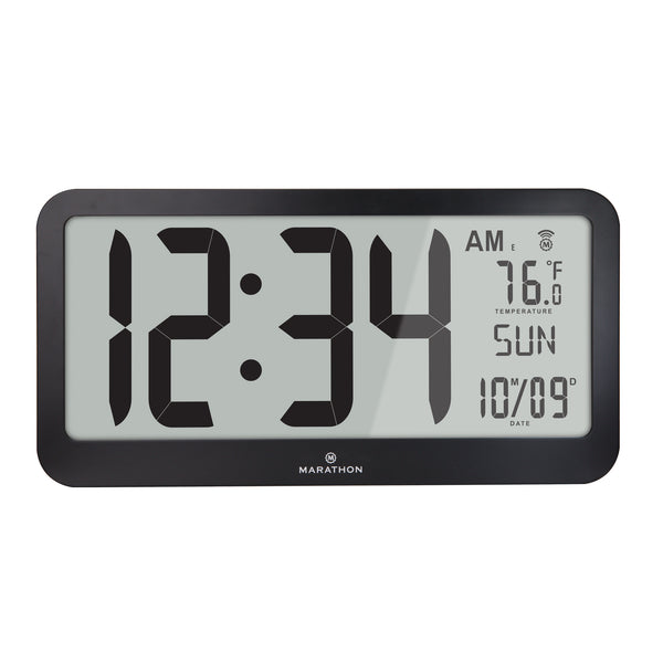 Jumbo Panoramic 8 Time Zone Atomic Wall Clock - marathonwatch