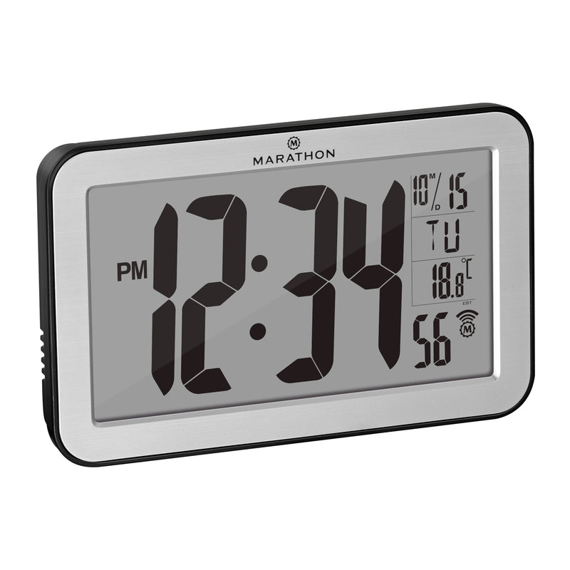 Atomic Wall Clock With 8 Timezones - marathonwatch