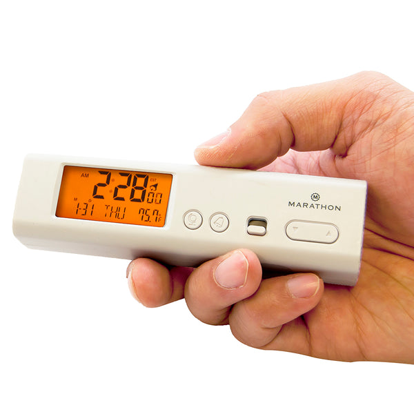 Compact Atomic World Clock with LED Emergency Light - marathonwatch