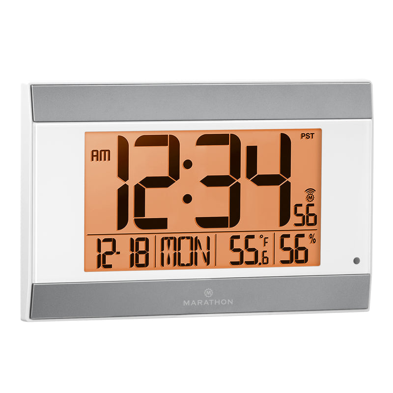Digital Wall Clock With Auto-Night Light - marathonwatch