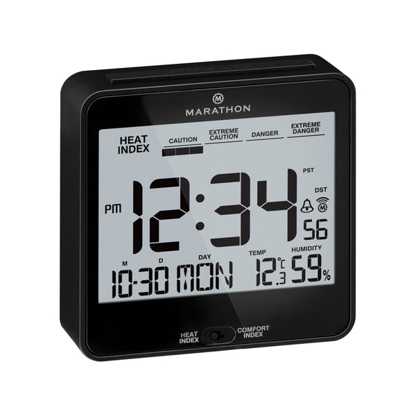 Atomic Desk Clock With Backlight, Heat & Comfort Index - marathonwatch