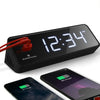 LED Alarm Clock with Two USB Ports