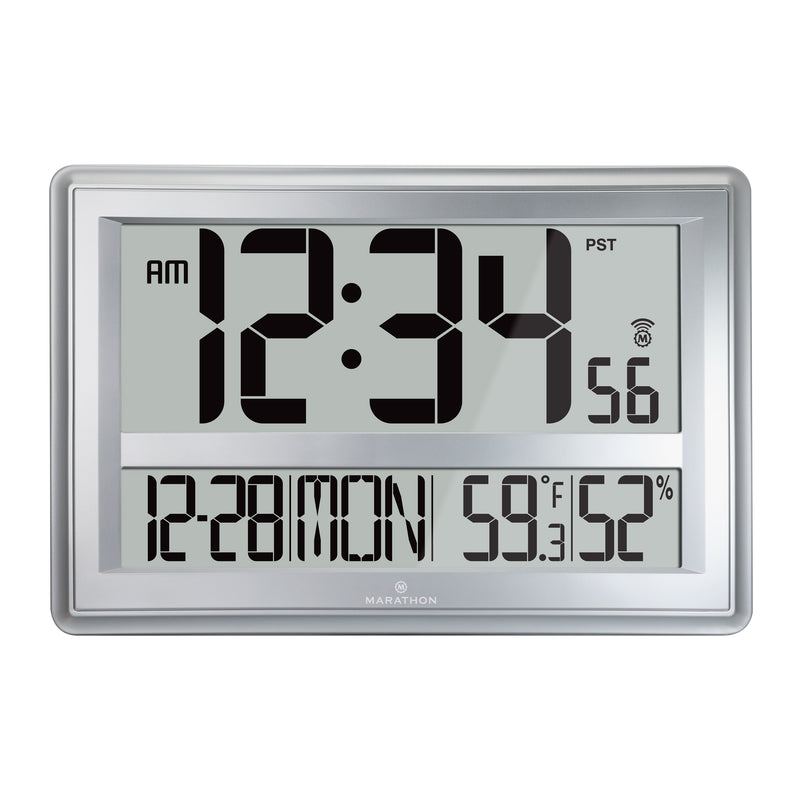 Jumbo Atomic Wall Clock with Table Stand - marathonwatch