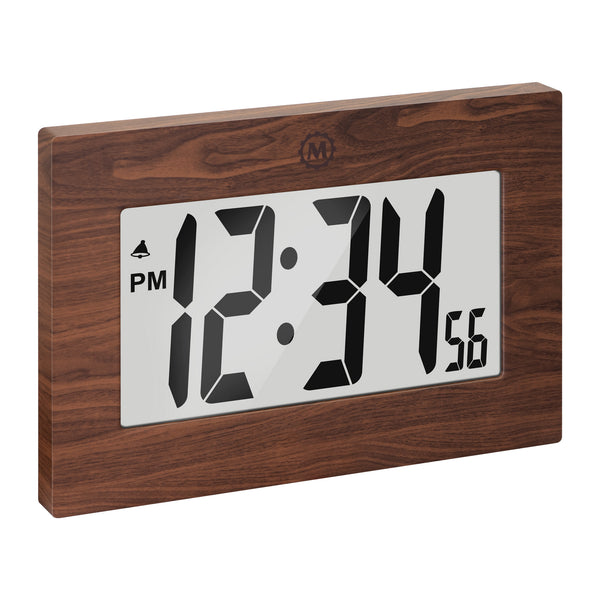 "Large Digital Frame Clock with 3.25"" Digits - marathonwatch"