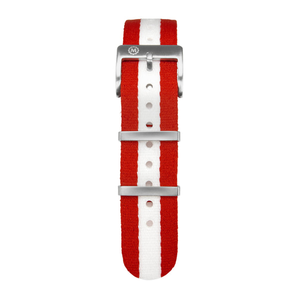 20mm Seat-belt Weave Nylon NATO Watch Band/Strap with Stainless Steel Square Buckle - marathonwatch