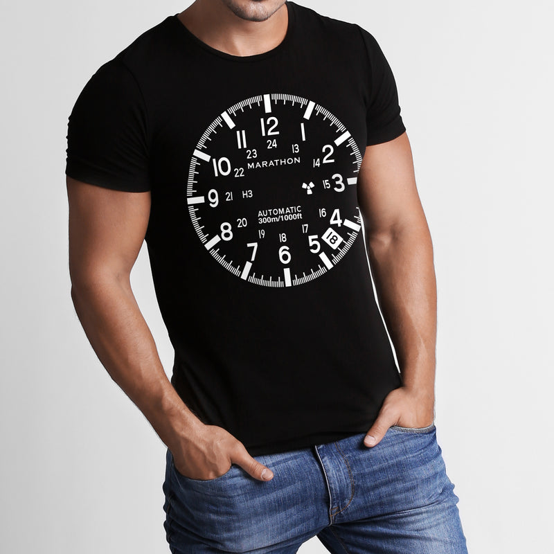 Slim Fit Midnight Black Marathon Watch GSAR T-Shirt - marathonwatch
