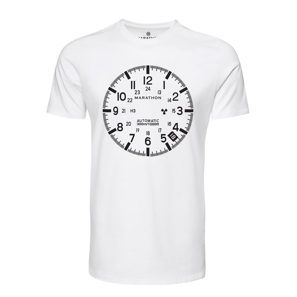 Slim Fit Classic White Marathon Watch GSAR T-Shirt - marathonwatch