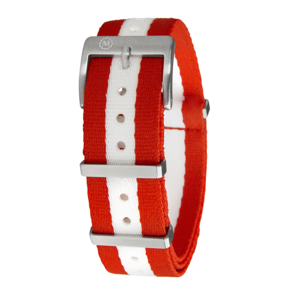Seat-belt Weave Nylon NATO Watch Band/Strap with Stainless Steel Square Buckle - marathonwatch