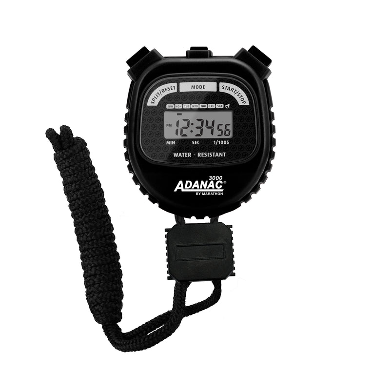 ADANAC 3000 Digital Stopwatch Timer Black - marathonwatch