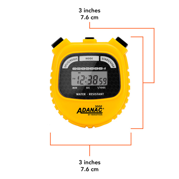 Adanac 3000 Digital Stopwatch Timer - marathonwatch