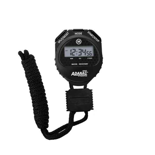ADANAC 4000 Digital Stopwatch Timer Black - marathonwatch