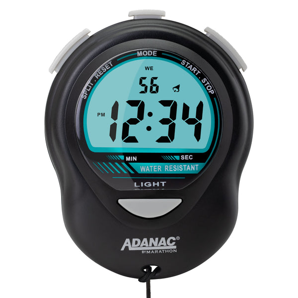 ADANAC Digital Glow Stopwatch Timer Black - Marathon Watch Company