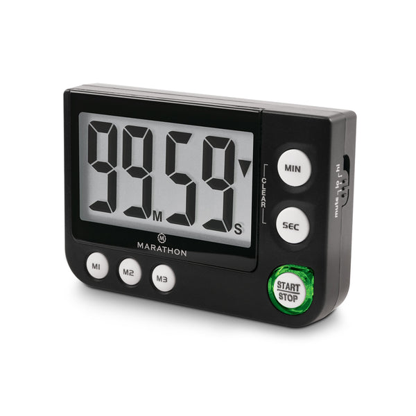 Large Display Countdown / Up Timer with Blinking Alarm and Adjustable Sound - marathonwatch