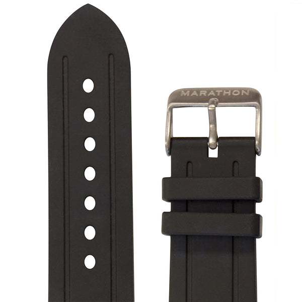 22MM VULCANIZED RUBBER DIVE WATCH STRAPS IN VARIOUS COLORS - marathonwatch