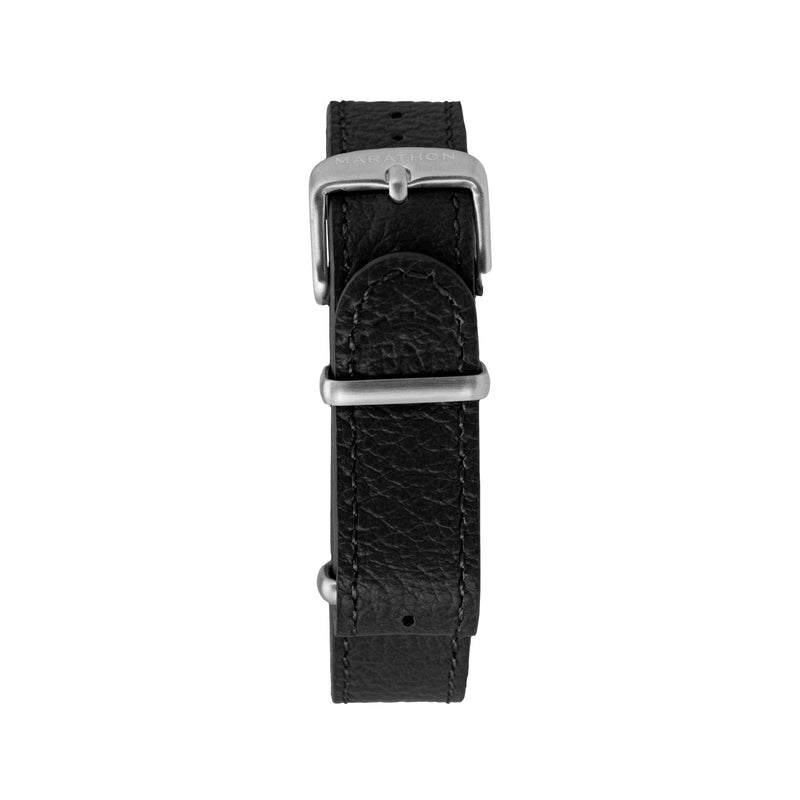 16mm Leather NATO Watch Strap - Stainless Steel Hardware