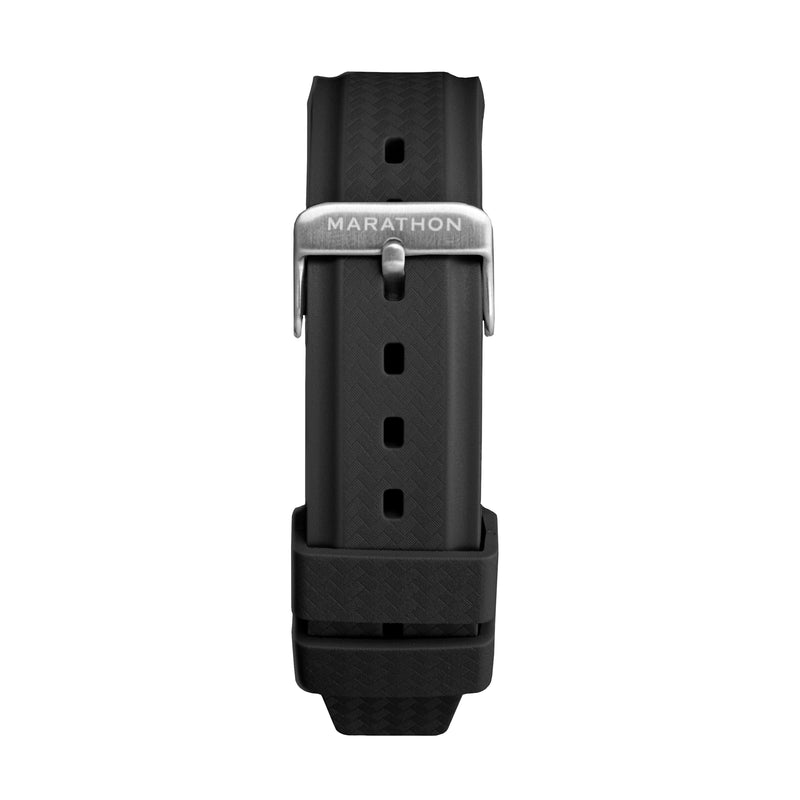 22mm Textured Two-Piece Rubber Strap - Stainless Steel Hardware