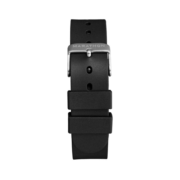 18mm Single-Piece Rubber Watch Strap - Stainless Steel Hardware