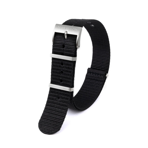 22mm Nylon NATO Watch Band/Strap with Stainless Steel Square Buckle - marathonwatch