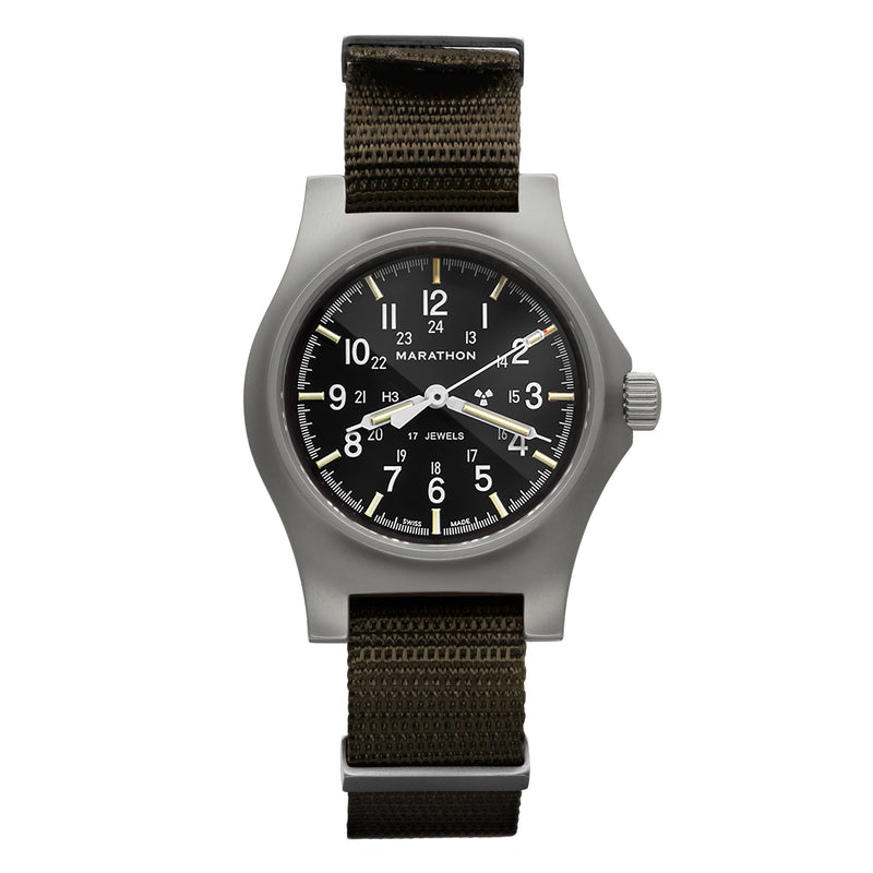 Re-Issue Stainless Steel General Purpose Mechanical (GPM) No Government Markings - 39mm (Case to Crown) - marathonwatch