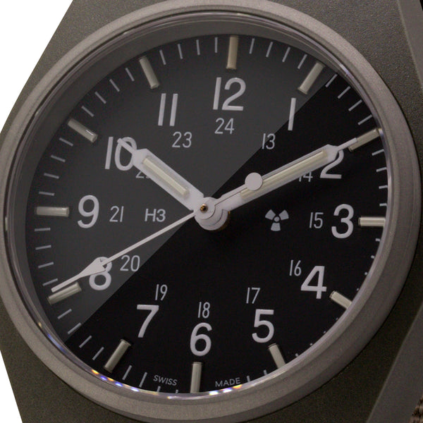 Sage Green General Purpose Quartz (GPQ) Sterile Dial - 34mm - marathonwatch