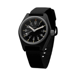 Black General Purpose Quartz with MaraGlo (GPQ) No Government Markings - 34mm - marathonwatch