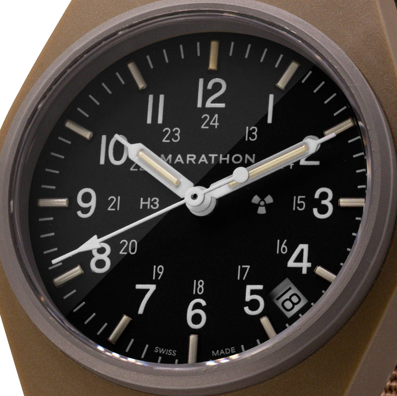 Desert Tan General Purpose Quartz with Date (GPQ) - 34mm