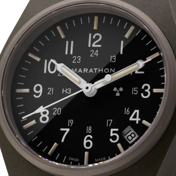 Sage Green General Purpose Quartz with Date (GPQ) - 34mm