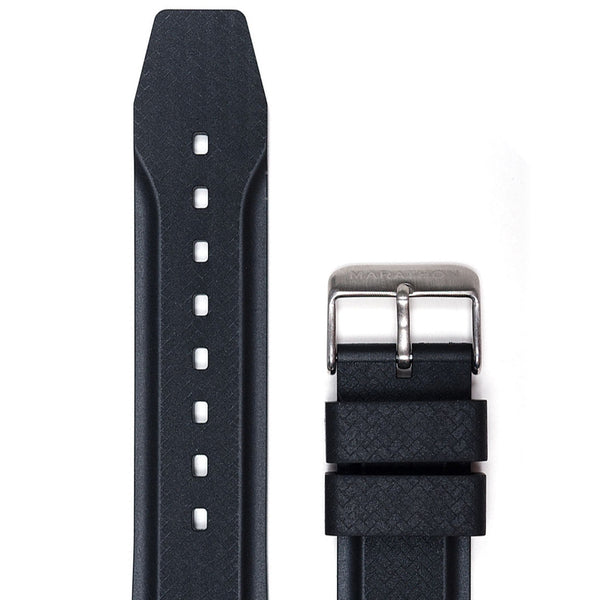 22mm Textured Vulcanized Rubber Strap - marathonwatch