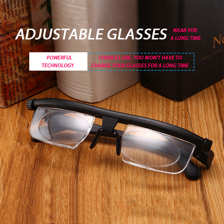 (HOT SALE)The latest technology - myopia / hyperopia adjustable glasses