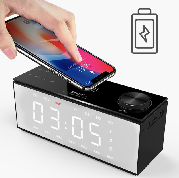 H2 Bluetooth And Wireless charger Speaker with 12 Features