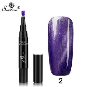 Flame Cat Eye Nail Gel Pen Shape Easy Operation Barbie QQ Phototherapy Gel
