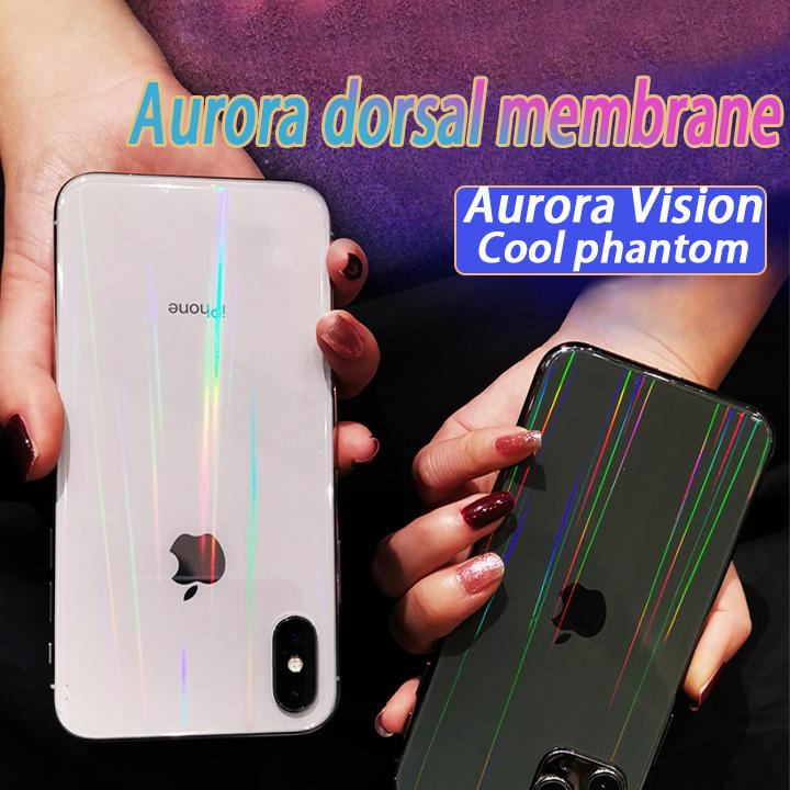 (3PCS/SET)Aurora Shiny Unbreakable Membrane Back Film - For IPHONE/SAMSUNG/HUAWEI