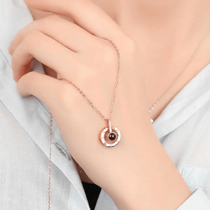 "(HOT)100 Languages ""I LOVE YOU"" Ring,Necklace(Ring is adjustable)"
